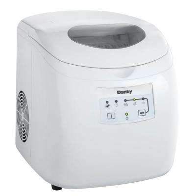 25 lb. Freestanding Ice Maker in White