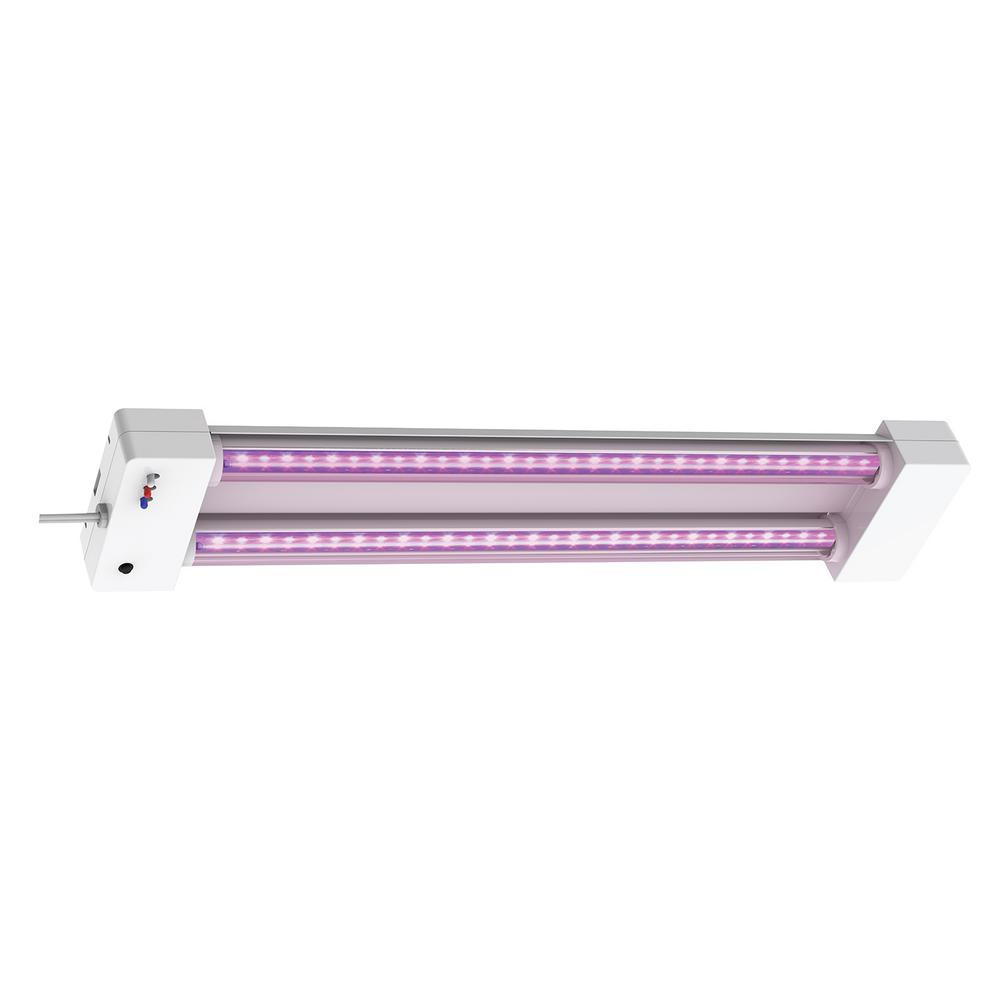 2 ft. 32-Watt White LED 3 Adjustable Spectrum Linkable Plant Grow Light Fixture (4-Pack)