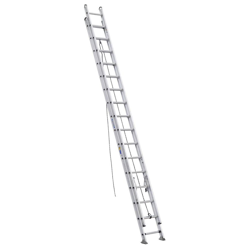 Werner 32 ft. Aluminum D-Rung Extension Ladder with 375 l...