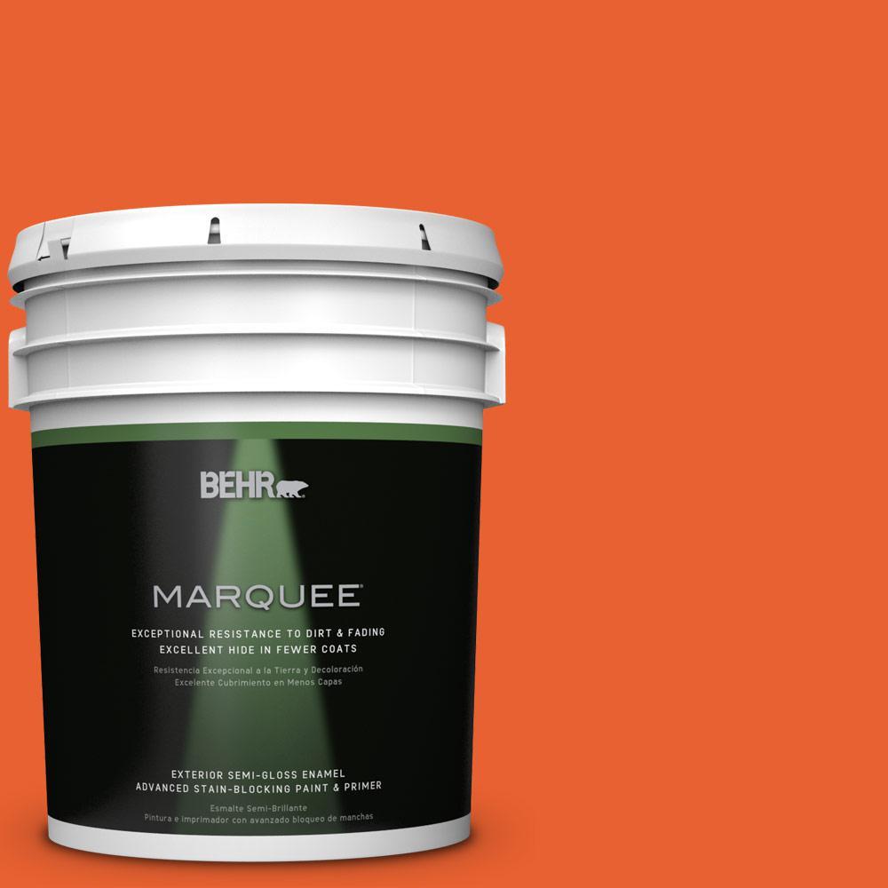 BEHR MARQUEE 5-gal. #S-G-230 Startling Orange Semi-Gloss Enamel Exterior Paint