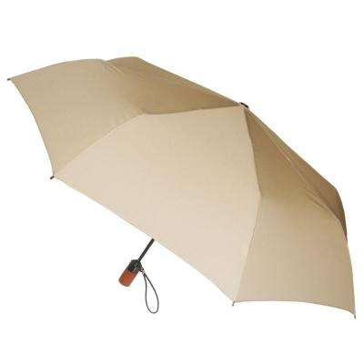 44 in. Arc Canopy 3 Sectional Telescopic Mini Auto Open Auto Close Umbrella in Desert