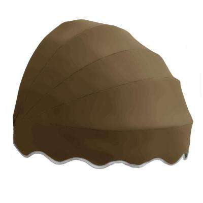5 ft. Delaware Retractable Dome Awning in Tan