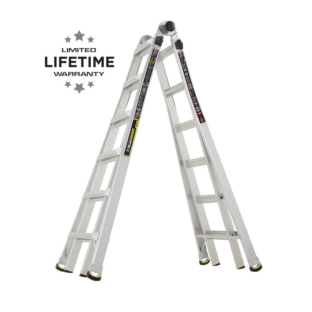 26 ft. Reach MPX Aluminum Multi-Position Ladder with 375 lb. Load
