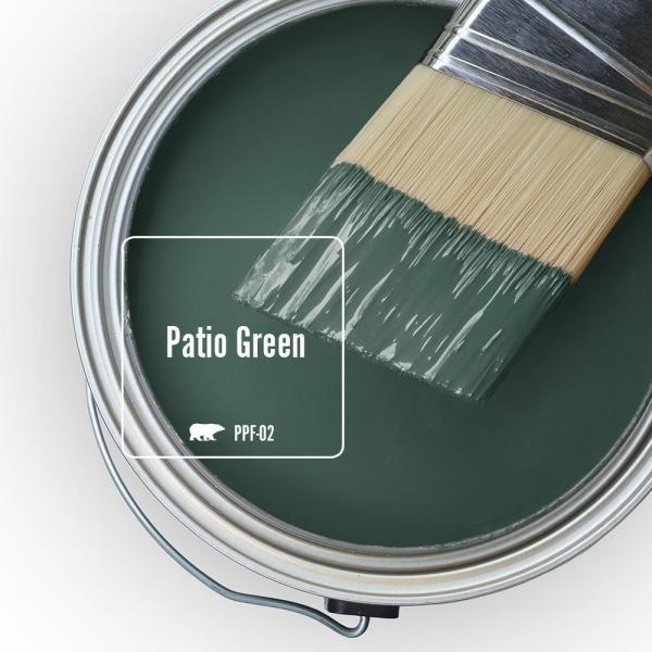 Reviews For Behr Marquee 5 Gal Ppf 02 Patio Green Semi Gloss Enamel Exterior Paint Primer 545305 The Home Depot