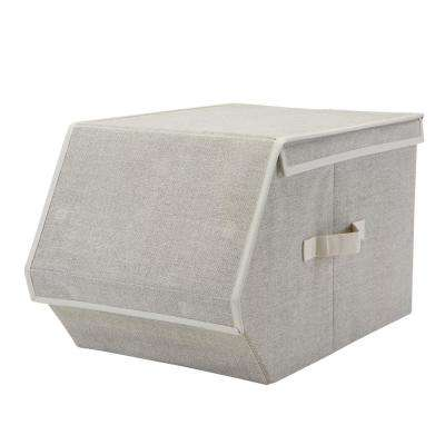 23.5 in. x 12 in. x 11 in. Collapsible Large Faux Jute Storage Chest