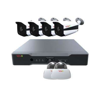 Aero HD 8-Channel 5MP 2TB Video Surveillance Security System with 6 Indoor/Outdoor Cameras