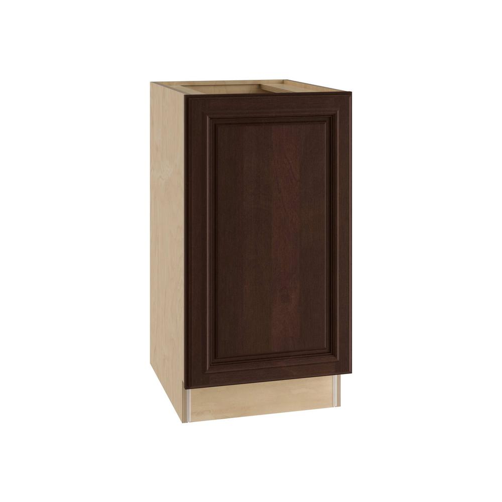 Home Decorators Collection Somerset Assembled 15x34.5x24 In. Single Pullout  Wastebasket Base Kitchen Cabinet