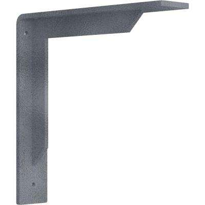 2 in. x 10 in. x 10 in. Steel Hammered Silver Stockport Bracket
