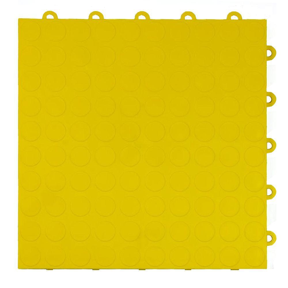 Blocktile 12 in x 12 in modular interlocking garage floor tiles coin top 1 ft x 1 ft x 58 in yellow dailygadgetfo Gallery