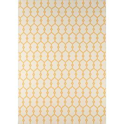 Rectangle Trellis Yellow Outdoor Rugs Rugs The Home Depot