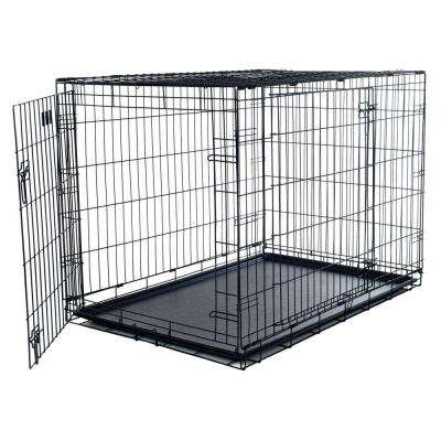 24 in. x 19 in. Foldable Dog Crate Cage with 2 Door