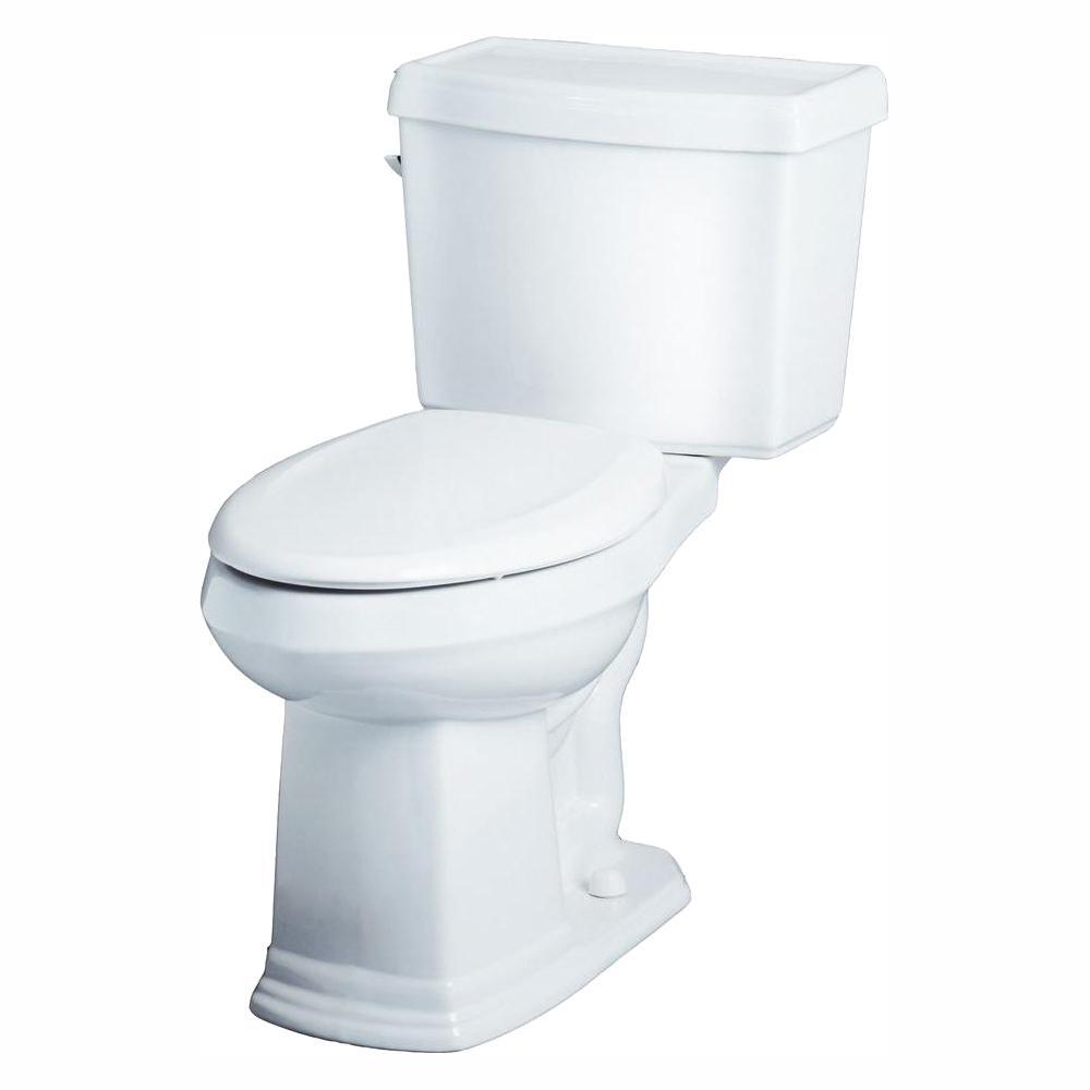 Allerton 2-Piece 1.280 GPF Single Flush High Efficiency Elongated ErgoHeight Toilet in White