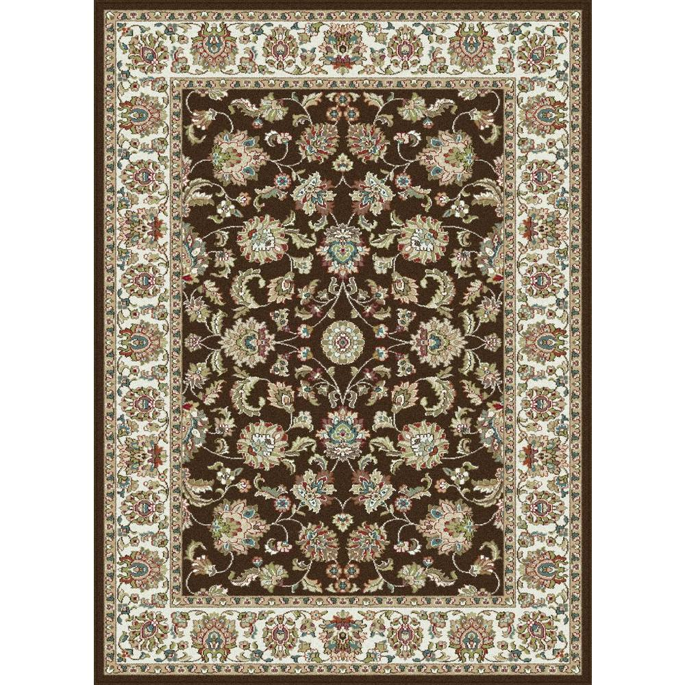 Tayse Rugs Capri Brown 8 ft. 10 in. x 10 ft. 6 in. Traditional Area Rug