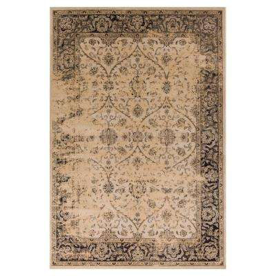 Classy Edge Ivory/Black 3 ft. 3 in. x 5 ft. 3 in. Area Rug