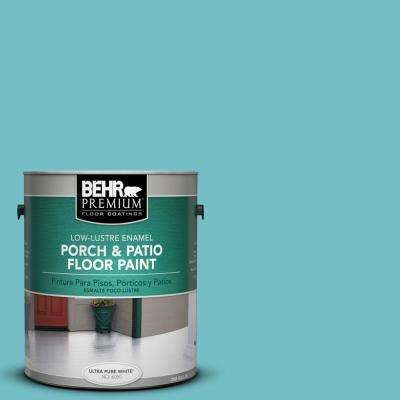 1 gal. #M460-4 Pure Turquoise Low-Lustre Interior/Exterior Porch and Patio Floor Paint