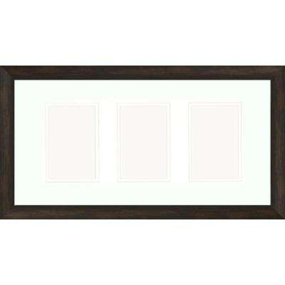 3-Opening 4 in. x 6 in. Matted Brown Photo Collage Frame (Set of 2)