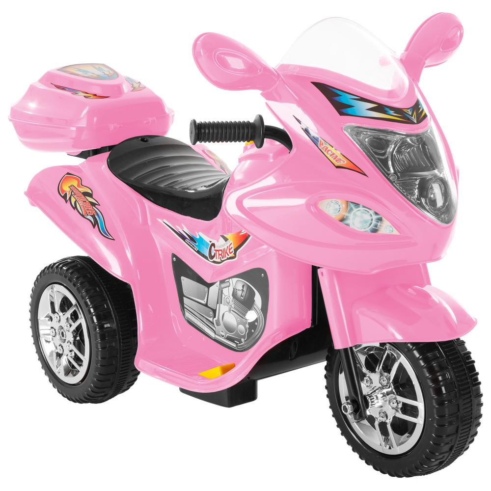 bc756f62dae Lil Rider Battery Operated Trike Motorcycle Ride On Toy Pink ...
