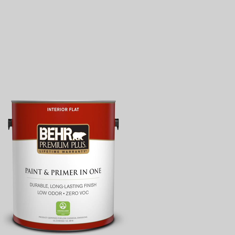 N520 1 White Metal Flat Low Odor Interior Paint And Primer In One 105001 The Home Depot