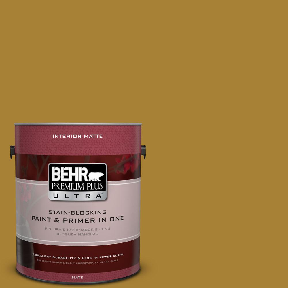 1 gal. #340D-7 Golden Green Flat/Matte Interior Paint