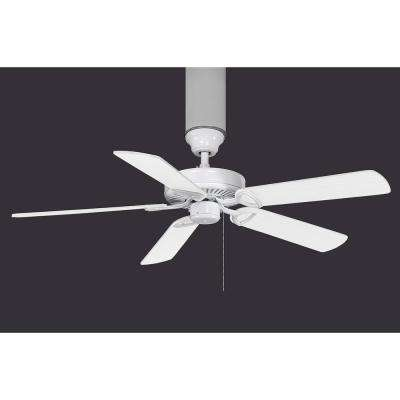 America 52 in. Indoor Gloss White Ceiling Fan with Pull Chain