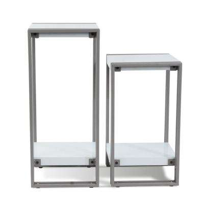 Urb Space White Accent Tables End Tables (Set of 2)