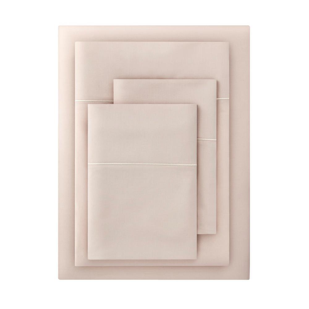 600 Thread Count Supima Cotton 4 Piece Full Sheet Set In Ballet Beige