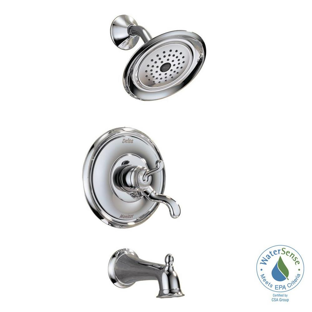 Delta Vessona Single-Handle 1-Spray Tub and Shower Faucet in Chrome