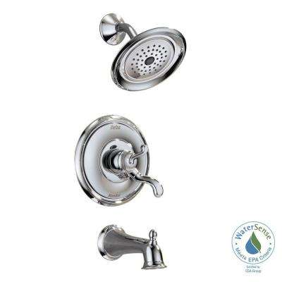 Vessona Single-Handle 1-Spray Tub and Shower Faucet in Chrome