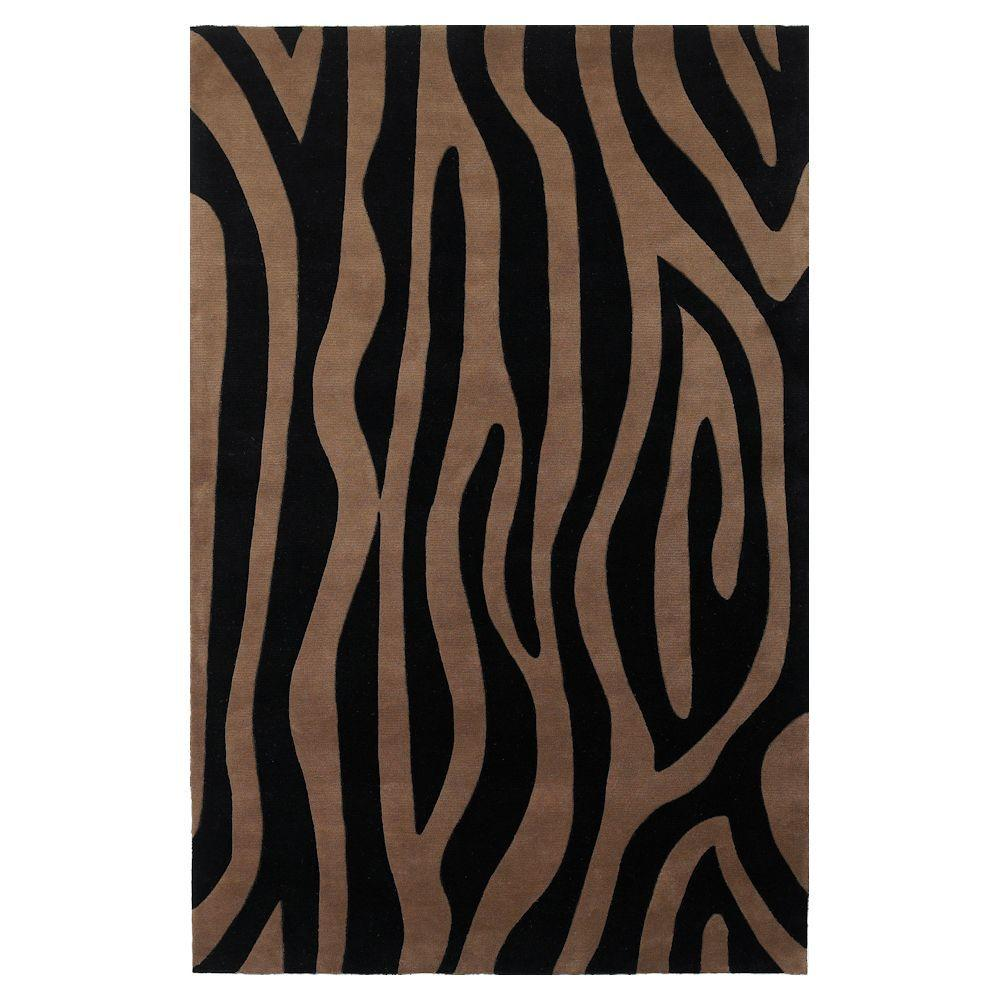 Kas Rugs Signature Promotion Taupe/Black 8 ft. x 11 ft. Area Rug