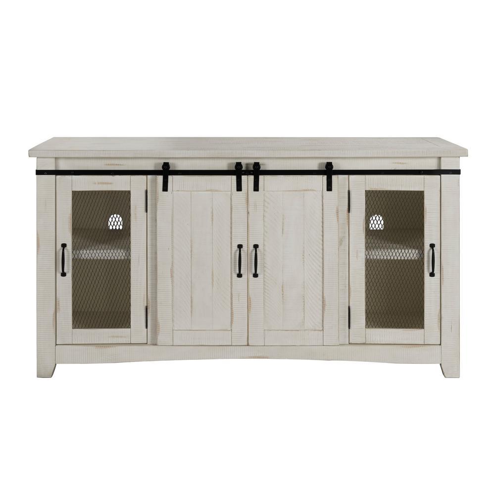 Aspen White TV Stand