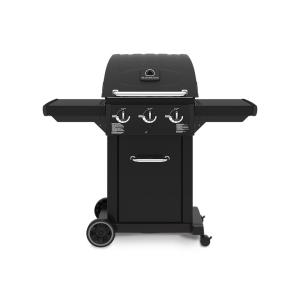 Huntington Cast 3200 3-Burner Propane Gas Grill in Black by Huntington