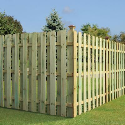 1 in. x 6 in. x 8 ft. Pressure-Treated Red Pine Dog-Ear Fence Picket