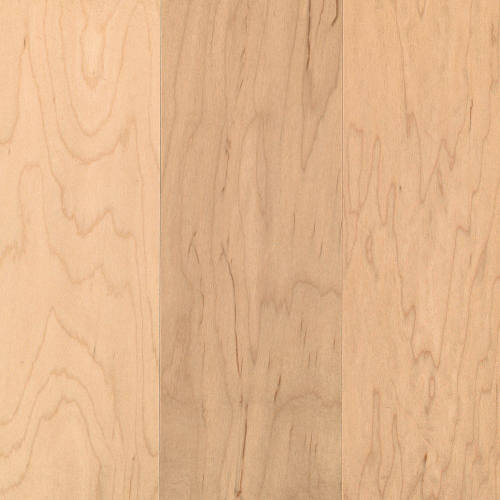 Mohawk Take Home Sample Pristine Maple Natural Engineered Hardwood Flooring 5 In X