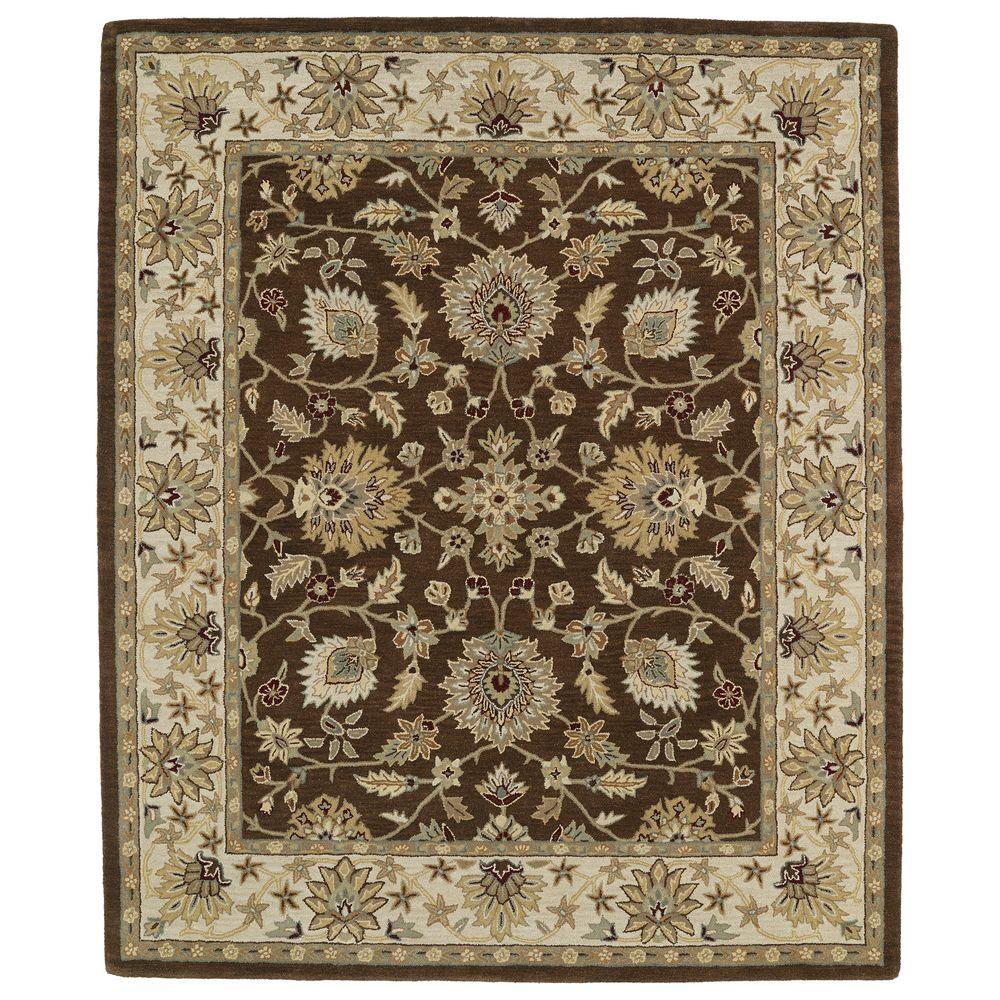 kaleen taj chocolate 5 ft x 8 ft area rug taj09 40 5 x 7 9 the home depot. Black Bedroom Furniture Sets. Home Design Ideas