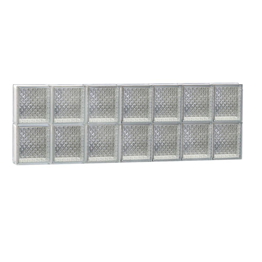 Clearly Secure 40.125 in. x 15.5 in. x 3.125 in. Frameless Diamond Pattern Non-Vented Glass Block Window