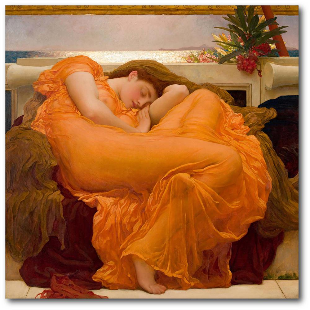 Courtside Market Flaming June Frederic Leighton Gallery-Wrapped Canvas Nature Wall Art 24 in. x 24 in., Multi Color was $115.0 now $64.03 (44.0% off)