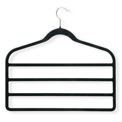 Velvet Touch Black 4-Step Hanger (4-Pack)