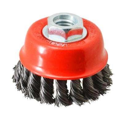 6 in. x 5/8 in.-11 Threaded Arbor Twist Wire Cup Brush