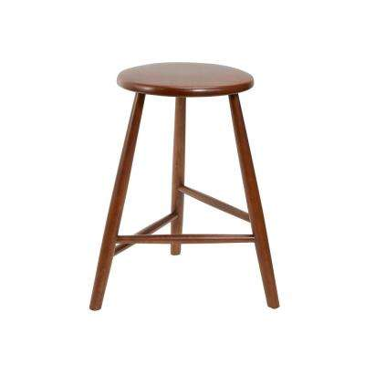 Norris 24 in. Brown Backless Mid-Century Bar Stool