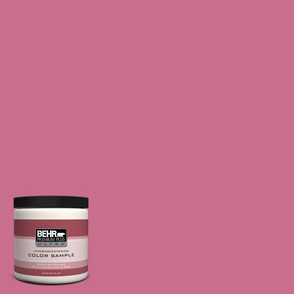 BEHR Premium Plus Ultra 8 oz. #110B-5 Silk Ribbon Interior/Exterior Paint Sample