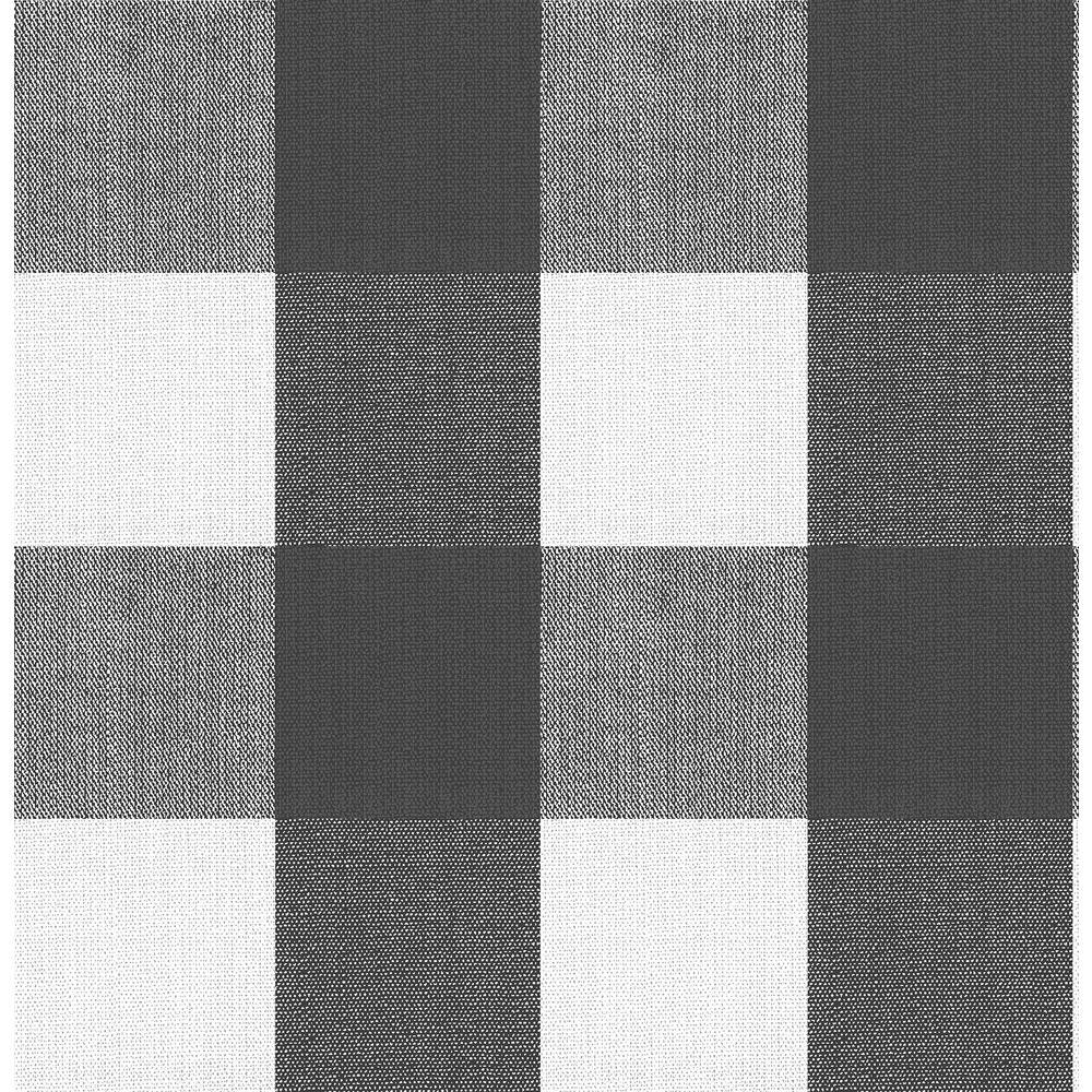 30.75 sq. ft. Buffalo Plaid Charcoal Peel & Stick Wallpaper