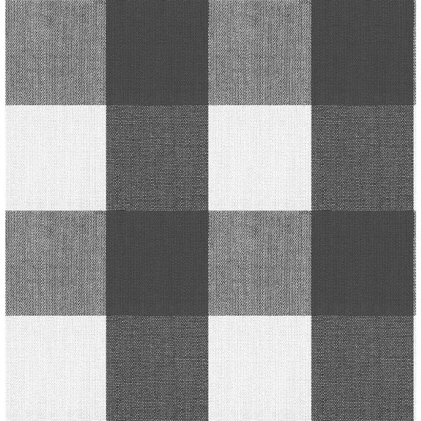 Buffalo Plaid Charcoal Charcoal Vinyl Strippable Roll (Covers 30.75 sq. ft.)