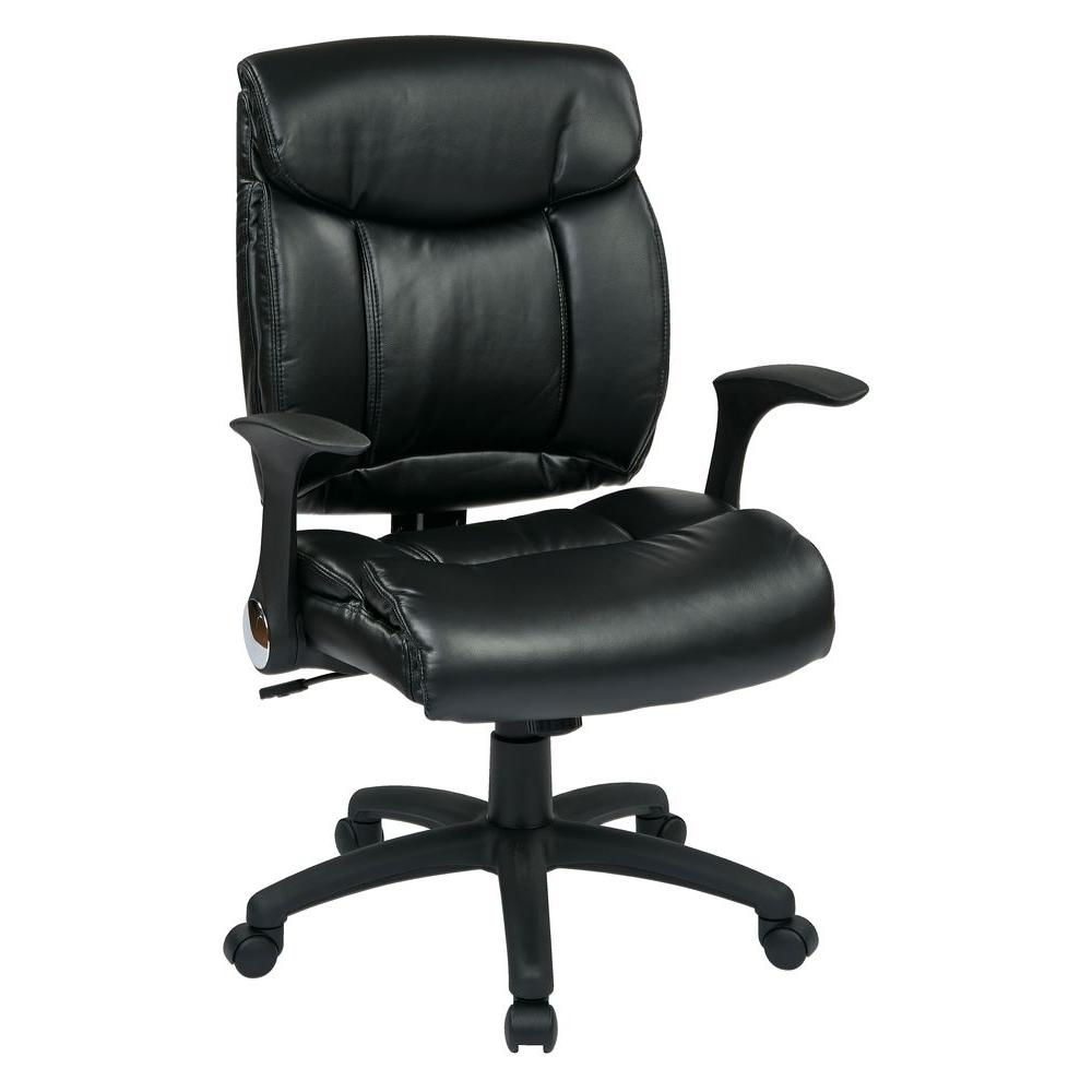 work smart black faux leather manager office chair fl89675 u6 the