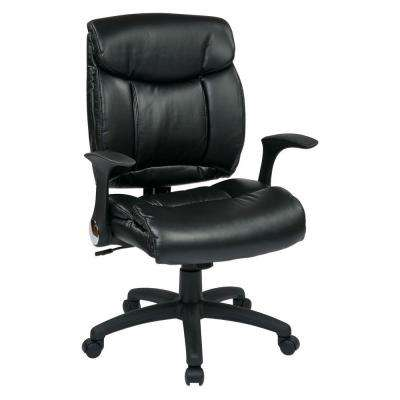 Black Faux Leather Manager Office Chair