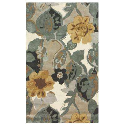 Balcony Nickel 3 ft. 6 in. x 5 ft. 6 in. Area Rug