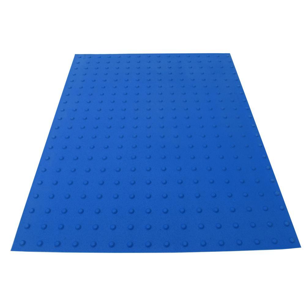 RampUp 36 in. x 4 ft. Blue ADA Warning Mat