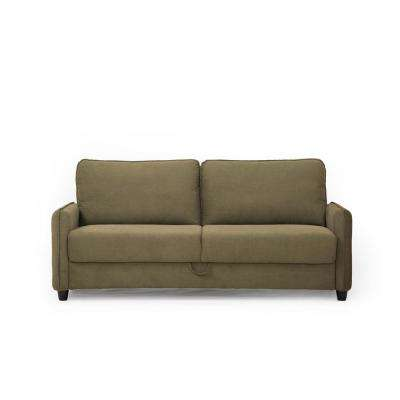 Sheldon Microfiber Sofa with Storage in Taupe