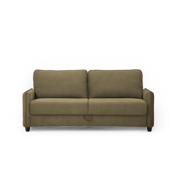 Lifestyle Solutions Sheldon Microfiber Sofa With Storage In Taupe