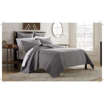 Kennedy 3-Piece Grey King Mini Quilt Set