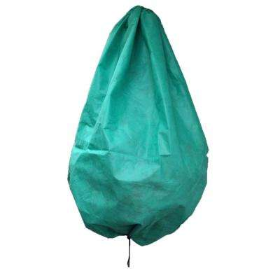 28 in. dia. x 40 in. Tall Green Hanging Flower Basket Frost Cover for Hanging Flower Baskets and Potted Plants